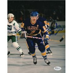 Bernie Federko St.Louis Blues Autographed 8x10 Photograph signed in blue sharpie.