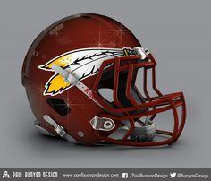 Washington Redskins - NFL Concept Helmet by Paul Bunyan Design