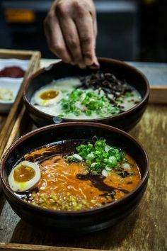 A piping hot bowl of ramen on a cold, rainy day? Sounds so good...