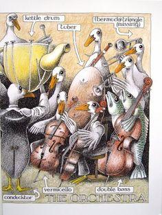 The Orchestra - Simon Drew Humorous Blank Greeting Card Simon Drew http://www.amazon.co.uk/dp/B00AW79P2K/ref=cm_sw_r_pi_dp_yilXub19BN327