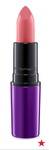 Lips let loose and live a little in dusty rose pink Please Me lipstick from MAC's Magic of the Night collection.