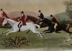 Old English Foxhunting Painting on canvas by Lisa Curry Mair.