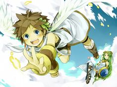 Lady Palutena and Pit from Kid Icarus