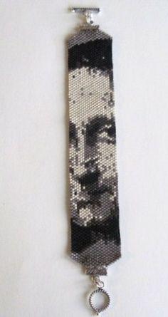 Mona Lisa beaded bracelet - love this, have no idea how to do it