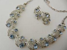 Grandiose parure 1960 CORO  Beautiful sapphire by RAKcreations