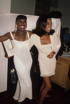 """Grace Jones and Naomi Campbell"" Grace Jones, Runway Fashion, High Fashion, Black 90s Fashion, 2000s Fashion, Couture Fashion, Fashion Outfits, Fashion Trends, Black Supermodels"