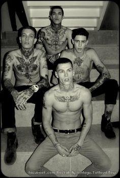 cockkkkkkkk: Miles Langford, Lawson Rhys, Jimmy Q, Norman Theuerkorn Tatto Boys, Boys With Tattoos, Boy Tattoos, Psychobilly, Jimmy Q, Piercings, Piercing Tattoo, Inked Men, Inked Guys