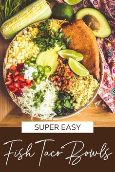 These are the easiest fish taco bowls you'll ever make! The recipe uses a shortcut of frozen fish fillets with plenty of healthy additions to make this a meal you'll make again and again. Crispy cod or any kind of grilled fish, make a quick 3-ingredient white sauce, and add all the toppings you want! #fishtacobowls #thewickednoodle Frozen Fish Fillets, Fish Taco Bowls, Easy Fish Tacos, Good Food, Yummy Food, White Sauce, Grilled Fish, Recipe Using