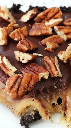 Caramel Turtle Pie