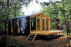 DublDom is a tiny modular cottage manufactured in Russia. It has a 280 sq ft studio floor plan.   www.facebook.com/SmallHouseBliss