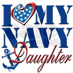 I Love My Navy Daughter Clutch Bag by PawsandPatriotsTwo
