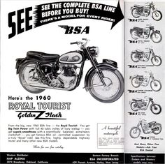 In 1964 and 1965, Jeff Smith rode a modified bike with BSA's 441cc single and won the 500cc motocross championship both years. Description from bikernet.com. I searched for this on bing.com/images