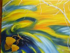 """""""falling down stream"""" oil painting"""