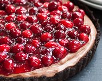 Cranberry Chocolate Mascarpone Tart | Wisconsin Milk Marketing Board [I would use cherries instead with a few alterations]