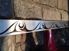 Custom steel fireplace insert with subtle Westcoast Native (Coast Salish) design elements by Klatle-bhi (Kwakwaka'wakw). Pacific West, Haida Art, Cool Doors, Native Design, Indigenous Art, Modern House Plans, House Numbers, Art Furniture, Native Art
