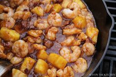 BBQ Pineapple Shrimp with Bacon!