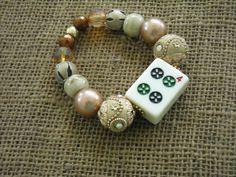 Beige Mahjong Bracelet - Mahjong Jewelry - Mah Jong Gift by Earmarksdesigns on Etsy
