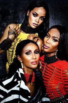 dollsofbeauty:  bambooearring:  curtisdondeano:  rihannanavyhn:  Iman Abdulmajid x Rihanna x Naomi Campbell    shopdeano.comx@CurtisDonDeano  Oh shit    XIV
