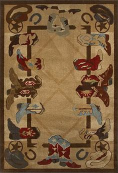 Cowboy Boots Western Area Rug Cabin And Lodge Themed Rugs Is Designed For Your Decor