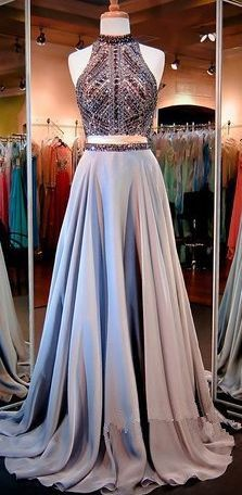 Simple Prom Dresses, 2 piece prom gown two piece prom dresses evening gowns 2 pieces party dresses evening gowns sparkle formal dress for teens LBridal Formal Dresses For Teens, Prom Dresses 2016, A Line Prom Dresses, Prom Party Dresses, Dance Dresses, Elegant Dresses, Pretty Dresses, Dress Party, Work Dresses