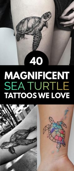40 Magnificent Sea Turtle Tattoos We Love | TattooBlend