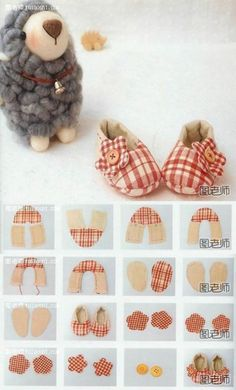How to make lovely baby bear shoes step by step DIY instructions 400x662 How to make lovely baby bear shoes step by step DIY instructions