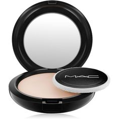 Mac Blot Powder, 0.42 oz ($26) ❤ liked on Polyvore featuring beauty products, makeup, face makeup, face powder, light, powder brush, blush brush and mac cosmetics