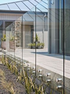 Glass could be an option for the cave house.  Not sure about dust and rain though?