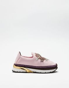 Dolce & Gabbana winter - SLIP-ON SNEAKERS WITH JEWELED APPLIQUÉS AND DOUBLE BOTTOM - Sneakers - Dolce&Gabbana - Winter 2016