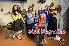 Logo design and photography for community theatre, Carrollwood Players Theatre' production of Steel Magnolias. Theatre Production, Steel Magnolias, Actor Headshots, Business Headshots, Digital Photography, Logo Design, Prom, Community, Actors