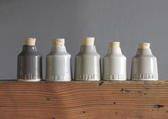 custom salt or spice bottles small pottery jar by vitrifiedstudio