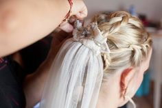 Hand embroidered veil by Christine Ritter, Workshop Weddings