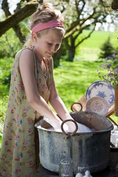 """Joy of a Summer Kitchen: """"The ancient wisdom of moving drudge~work from the hot kitchen into the cool, summer garden offers relief, charm and the alchemy of transforming a mundane task into a pleasure."""""""