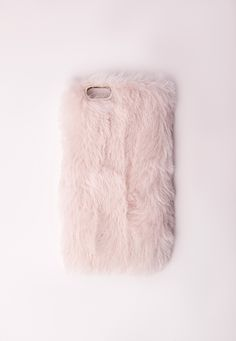 iPhone! Missguided - Coque pour iPhone 6 en fausse fourrure rose clair Cool iPhone stuff