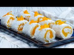 Slow Food, Sushi, Food And Drink, Occasion Spéciale, Cooking, Ethnic Recipes, Youtube, Coconut Desserts, Healthy Sweets