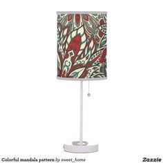 Colorful mandala pattern desk lamp  #Home #decor #Room #Interior #decorating #Idea #Styles #Traditional #Boho #Indian #Vintage #floral #motif