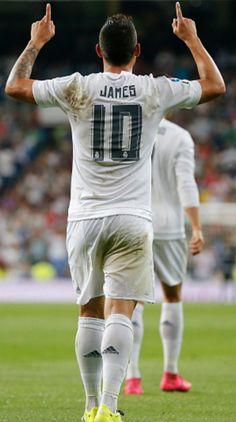 Real Madrid James Celebration. 29.8.15