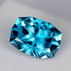 MJ783 - 3.07ct - blue Zircon - Cambodia 9.30 x 6.61 x 5.08 mm clean, custom cut, standard heat, $325 shipped