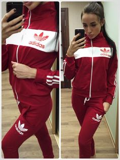 82da3cccf0c Stylish red color tracksuit with zipper #tracksuit #sportswear #sweatsuit  Graduation Dress College,
