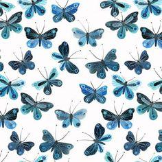 Towel Butterflies Navy