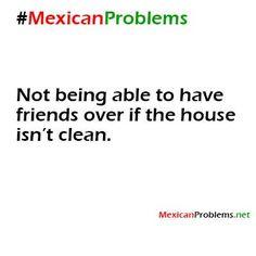 La casa no está limpia so no