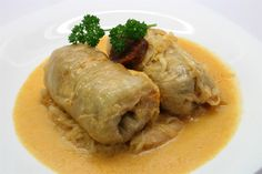 Stuffed cabbage or cabbage rolls is one of the most iconic Hungarian foods. Full of flavors, you wont ever forget once you taste it! Hungarian Cuisine, Hungarian Recipes, Sauerkraut, Bon Appetit, Pickled Cabbage, Cabbage Rolls, Fresh Bread, Polish Recipes, Smoking Meat