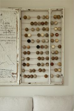 old abacus, love this idea