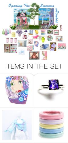 """""""Opening The Summer Houses"""" by patchworkcrafters ❤ liked on Polyvore featuring art"""
