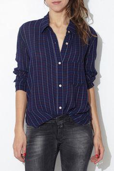 Midnight Plaid Pablo Shirt by Isabel Marant Étoile | shopheist.com