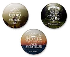 This set of badges to perfectly express the travel bug in you (₹199). | 17 Things You Should Get If You're Obsessed With Travelling