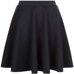 Black Sheer Ribbed Skater Skirt ($24) ❤ liked on Polyvore featuring skirts, circle skirt, skater skirt, sheer skirt, flared skirt and see-through skirts