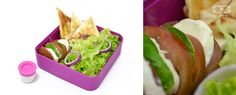 To get your appetite going try our new monbento-approved recipe: goat cheese samosas with honey and mint alongside a green salad with red onion and sliced tomato with mozzarella.