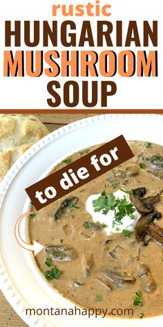 Hungarian Mushroom Bisque * The Best Mushroom Soup Recipe! This soup recipe is AMAZING! You'll be so happy you tried it - I promise. Hungarian Mushroom Soup Recipe * Authentic Hungarian Mushroom Soup * #hungarianmushroombisque #hungarianmushroomsoup #hungarianmushroomsouprecipe #authentichungarianmushroomsoup #bestmushroomsoup #bestmushroomsouprecipe