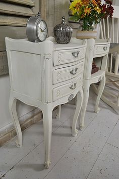 Pair Of Vintage Cane Nightstands | Furniture | Pinterest | Nightstands,  Shabby And Paint Furniture